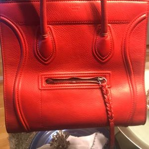 Celine red phantom bag